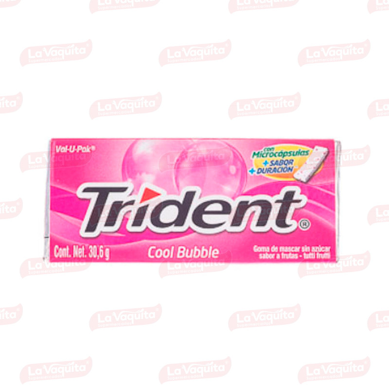 CHICLETS TRIDENT 30.6G EVUP COOLBUBBLE