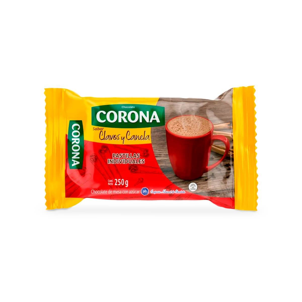 CHOCOLATE CORONA 250G CLAVOS/CANELA