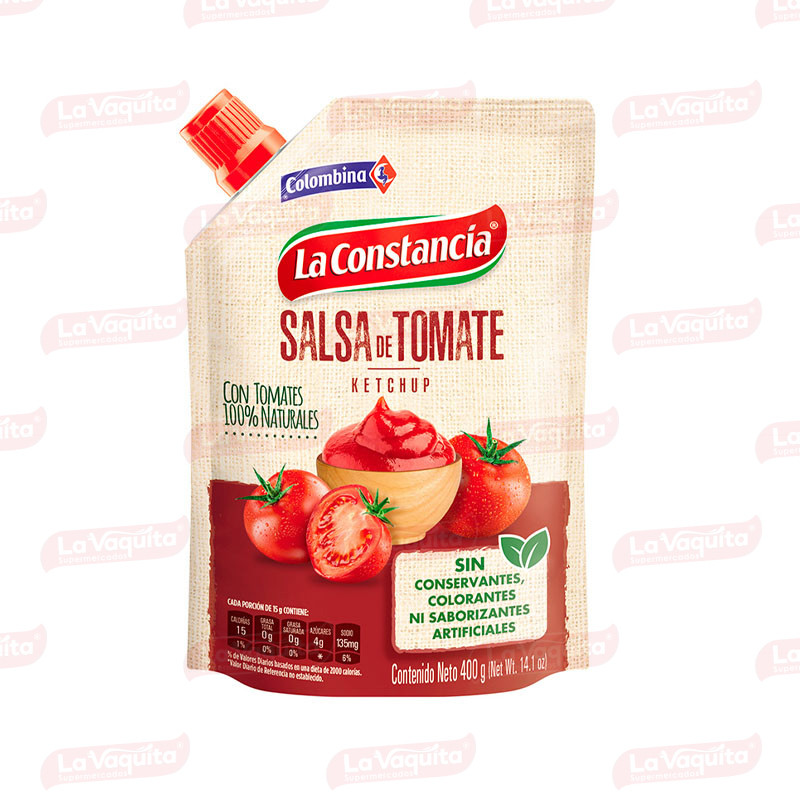 SALSA TOMATE CONSTANCIA 400G DOYPACK