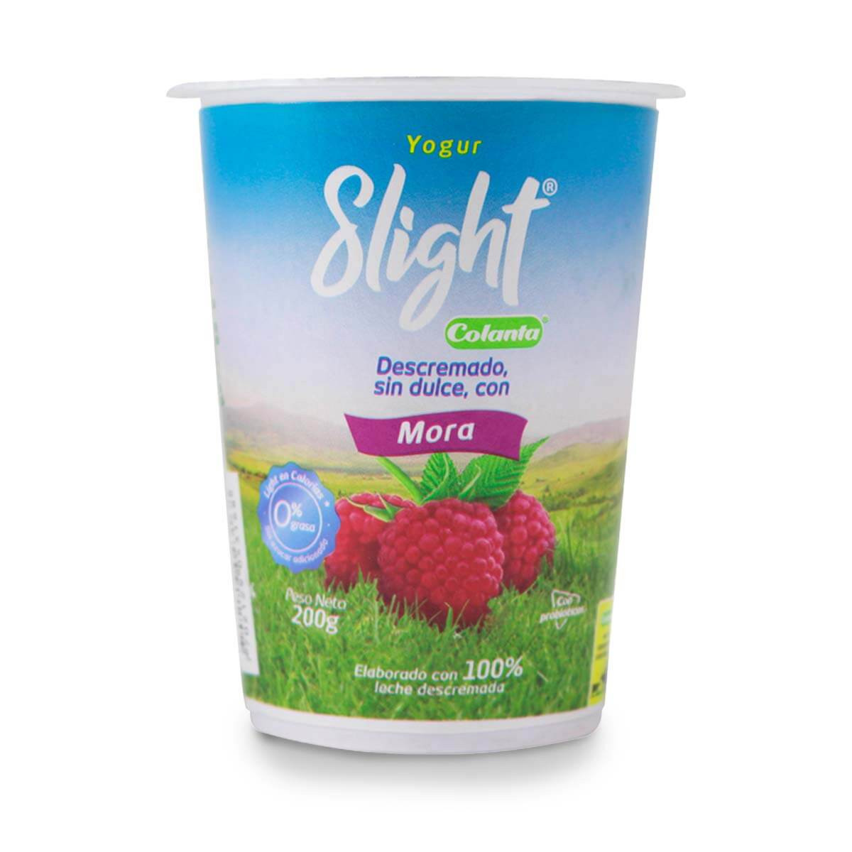 YOGURT SLIGHT COLANTA 200M VASO MORA