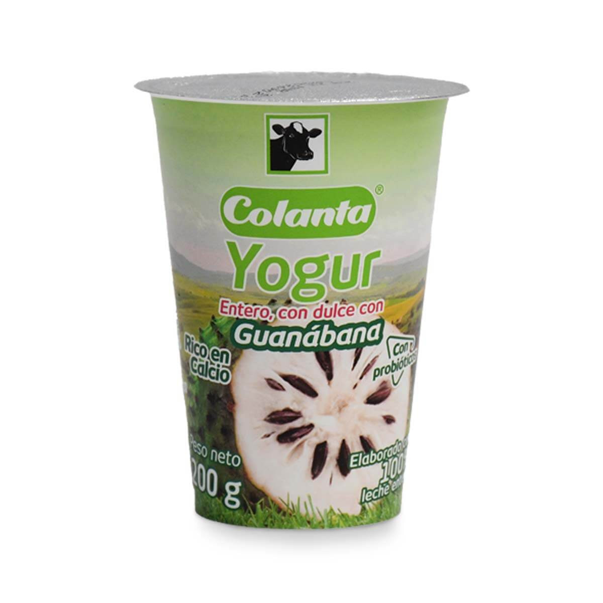 YOGURT COLANTA 200M VASO GUANABANA