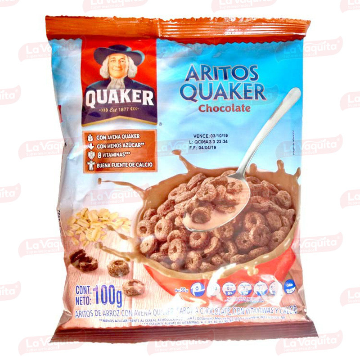 CEREAL QUAKER 100G ARITOS CHOCOLATE