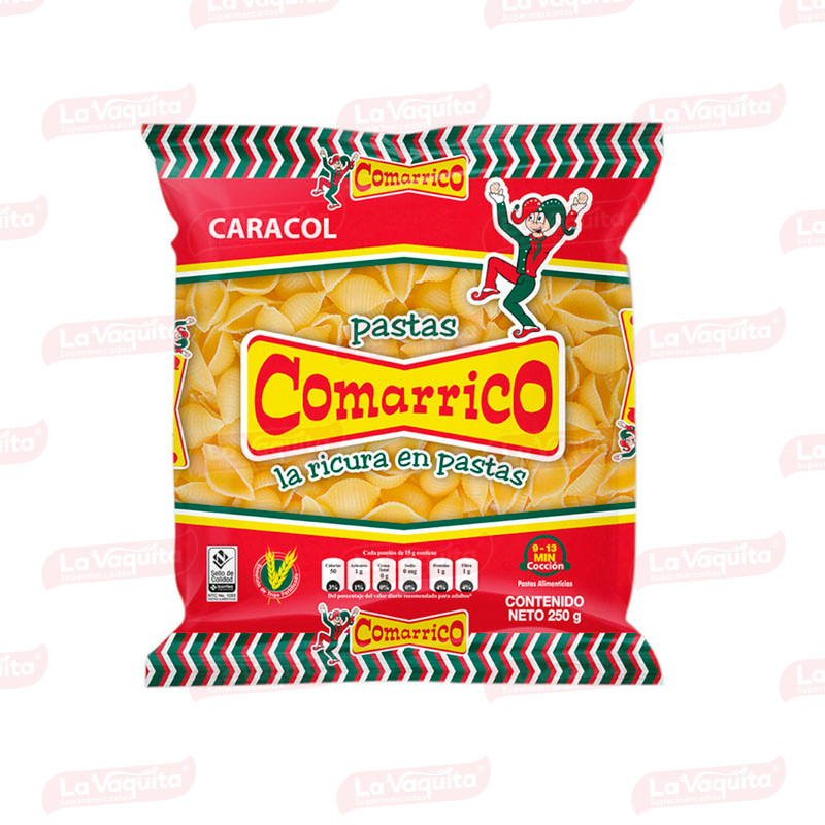PASTA COMARRICO 250G CARACOL