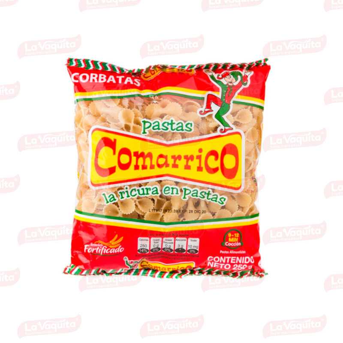 PASTA COMARRICO 250G CORBATAS