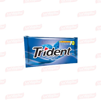CHICLETS TRIDENT 8.5G 5S MENTA