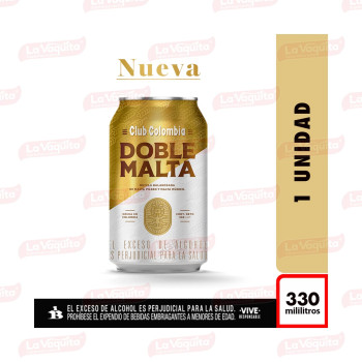 CERVEZA CLUB COLOMBIA 330M LATA DOB/MALT