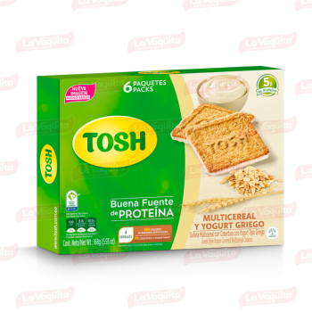 CEREAL TOSH 162G 6U BARRA YOGURT GRIEGO