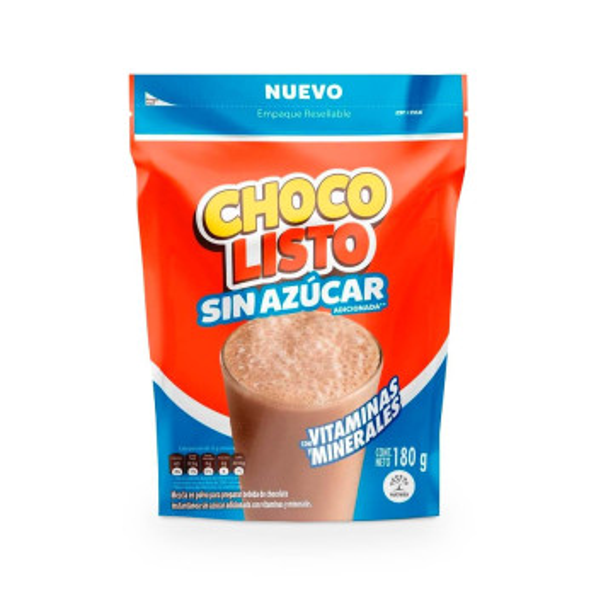 CHOCOLISTO 180G DOYPACK S/AZUCAR