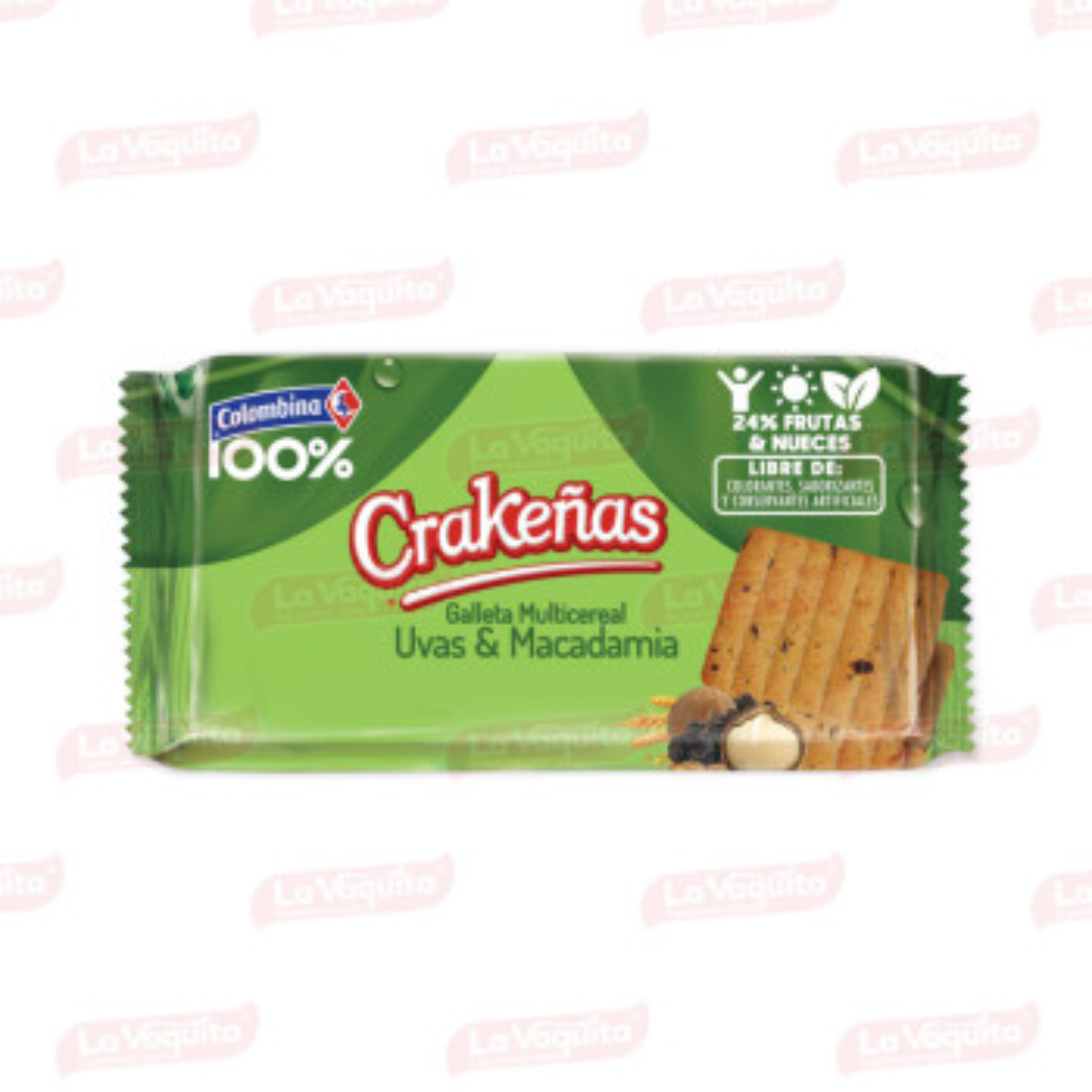 GALLETA CRAKENAS 100% 162G UVA/MACADAMIA