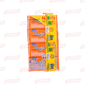 GALLETA BRIDGE 240G 8U NARANJA