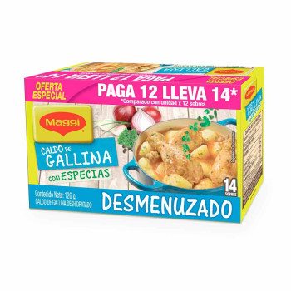 CALDO MAGGI 126G 14U PAG 12U DESME/GALLI