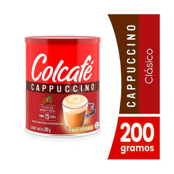 CAFE COLCAFE 200G CAPPUCCINO CLASICO LAT