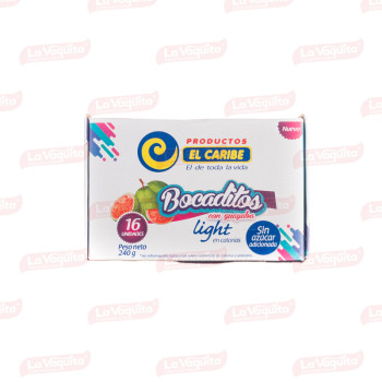 BOCADILLO CARIBE 240G CUBITOS LIGHT