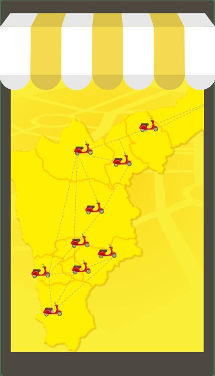 Mapa en una tableta